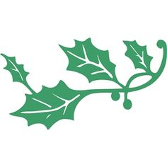 Silhouette Design Store - View Design #13987: holly leaf flourish