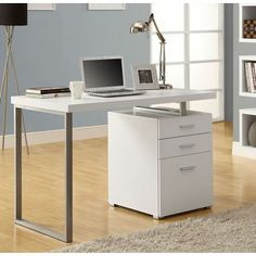 Buy Monarch Specialties 48x24 Rectangular Hollow-Core Left or Right Facing Corner Desk in White on sale online