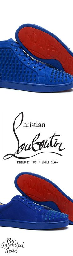 Christian Louboutin Suede Mens Lo and Hi (spiked & unspiked): @PunIntendedMag