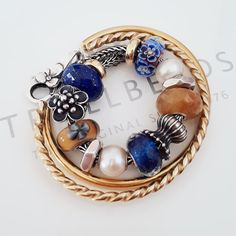 Trollbeads Gold and Blue