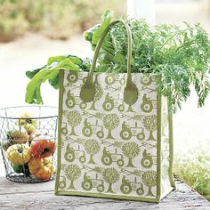 Tractor Market Tote | Crate and Barrel