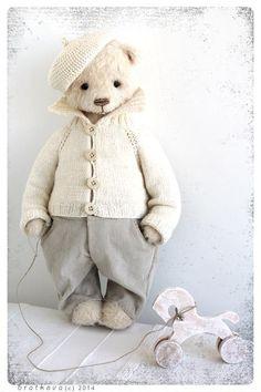 Рождество,снег, белый мишка...Егорка! - Ярмарка Мастеров - ручная работа, handmade