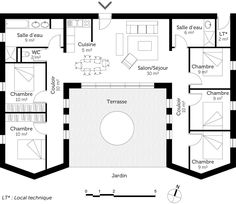 Fine Plan Maison 4 Chambres Plain Pied that you must know, You?re in good company if you?re looking for Plan Maison 4 Chambres Plain Pied House Layout Plans, Dream House Plans, House Layouts, Small House Plans, House Floor Plans, U Shaped House Plans, U Shaped Houses, The Plan, How To Plan