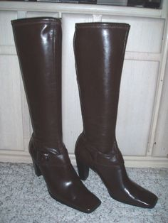 *Sexy* ENZO ANGIOLINI  Go For It  Fashion Knee-High Dress Boots~Brown~6.5 M