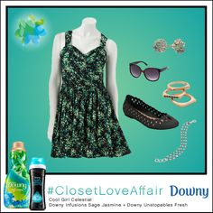 This Cool Girl Celestial look was inspired by Downy Infusions Sage Jasmine and Downy Unstopables Fresh. Rocking an effortlessly chic blend of neutrals in this look, you will prove that basics can be cool! To shop this look, visit the LC Lauren Conrad collection available only at Kohl's. To register for the #ClosetLoveAffair sweepstakes visit https://downy.promo.eprize.com/pinterest/.
