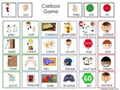 Communication board and visual directions for the BEST GAME EVER! From Speech Room News Speech Therapy Activities, Language Activities, Speech Language Pathology, Speech And Language, Visual Learning, Speech Room, Your Turn, Our Lady, Pecs Pictures