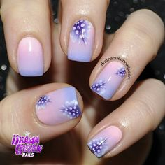 Fancy Purple Gradient Feather Nails by BornPrettyNails from Nail Art Gallery Wide Nails, Fingernails Painted, Nailart, Feather Nails, Queen Nails, Floral Nail Art, Toe Nail Designs, Fingernail Designs, Manicure E Pedicure