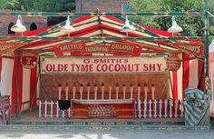 Victorian funfair style coconut shy