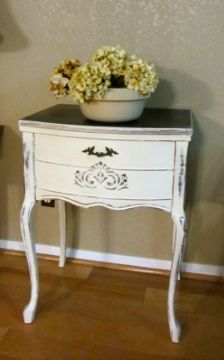 SHABBY FRIENDS: A Shabby Chic Re-Purposed Sewing Machine Cabinet