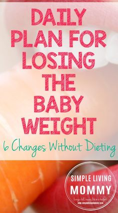 Do you still have weight to lose from pregnancy? This mom dishes on the 6 daily changes she's making to lose the baby weight without dieting. I'm definitely trying this after this baby comes!