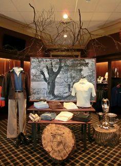 Fountain Head Country Club: Men's Visual Display, Golf Display. Merchandising Ideas.