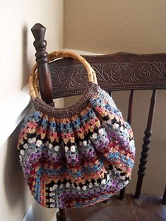 Crochet Striped Bag FREE Pattern