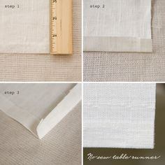DIY No Sew Table Runner