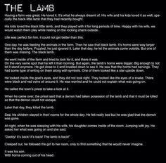 Creepypasta picture-story The Lamb Scary Horror Stories, Short Creepy Stories, Spooky Stories, Creepy Horror, Ghost Stories, Super Scary Stories, Que Horror, Horror Art, Scary Facts