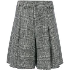 Ermanno Scervino prince de galles shorts ($1,335) ❤ liked on Polyvore featuring shorts, grey, grey shorts, gray shorts and ermanno scervino
