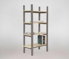 Librero Kinich - Gris Claro