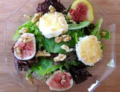 An Autumn Salad of Figs and Toasted Goat Cheese Recipe on Yummly. @yummly #recipe