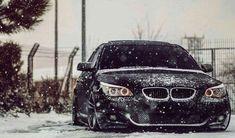 BMW E60 5 series black winter