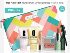 Clinique Bonus Time @ Dillard's. Spring 2015. http://clinique-bonus.com/dillards/ Select your gift (Nudes or Violets).