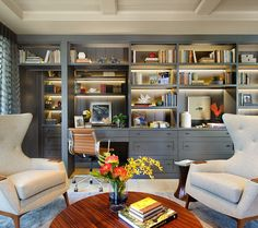 Interior Design Ideas - not loving the whole room but I like those bookshelf lights