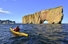 See 40 photos and 3 tips from 113 visitors to Parc national du Rocher-Percé-et-de-l'île-Bonaventure. Try to go to the island early in. Kayak Camping, Kayak Fishing, Kayaks, California Beach Camping, Voyager Loin, Old Quebec, Kayak Tours, Whale Watching, Extreme Sports