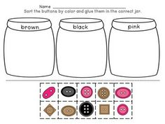 kindergarten math sorting by color by size by shape button sorting colors math and rules for. Black Bedroom Furniture Sets. Home Design Ideas