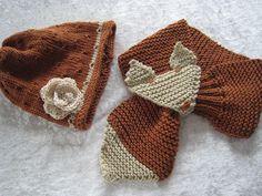 Fuchssteckschal mit passender Mütze