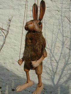 Hase  ,  marionette puppe