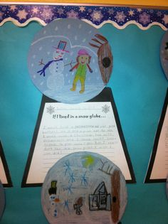 IF I LIVED IN A SNOW GLOBE... I created this template for a winter writing activity I did with my first grade students.