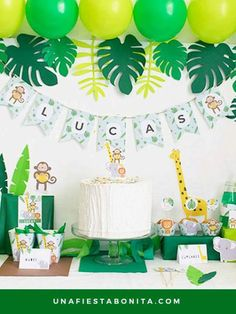 Pack imprimible selva - Jungle Party Package - Safari Party Package - Personalized Printable - Welcome to our website, We hope you are satisfied with the content we offer. Safari Birthday Party, Jungle Party, Baby Birthday, First Birthday Parties, First Birthdays, Party Kit, Birthday Decorations, Jungle Animals, Party Package