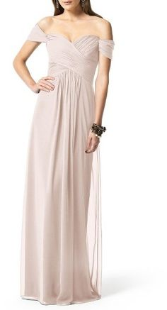 Women's Dessy Collection Ruched Chiffon Gown