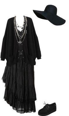 bcef25aeb0df Wherever you ll go par lady-frankenstein utilisant cardigan noir  want  Grunge Style