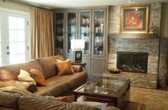 traditional living room by Georgia Perry - very masculine