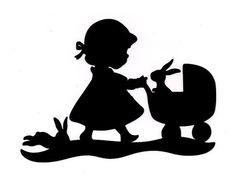 petite fille au landeau forme flex thermocollant customisation vêtement pas si godiche !