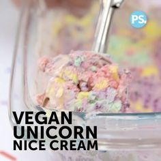 """2,465 Likes, 147 Comments - Vegan Fitness & Nutrition Ⓥ (@veganbodybuilding) on Instagram: """" Here's a delicious (healthy) snack to enjoy this summer! _ Vegan Unicorn 'Nice Cream' _ ProTip:…"""""""