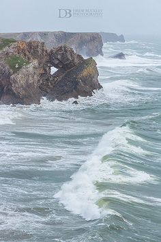 Coastline of Pembrokeshire, Wales at Moody Nose, just south east of Warren Farm. Until winter storms washed it away a few years ago Pembrokeshire Wales, Wales Uk, Holiday Places, Seaside Towns, British Isles, Great Britain, Beautiful Places, National Parks, Scenery