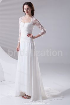 Beautiful Spring/ Fall A-Line Sweetheart Court Train Wedding Dresses