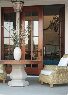 Patio Decor Ideas. Beautiful patio furniture. Designed by Brian Watford ID.