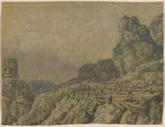 Mountain Landscape with a Plateau. Etching by Hercules Segers, c. 1625-30, The Metropolitan Museum of Art