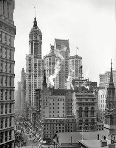 On Old Broadway, Manhattan c. 1910