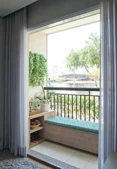 44 Awesome Small Living Room Decoration Ideas On A Budget Are you looking for interior decorating ideas to use in a small living room? Small living rooms can look just […] Small Balcony Design, Small Balcony Garden, Small Balcony Decor, Balcony Bench, Balcony Ideas, Small Balconies, Balcony Furniture, Balcony Gardening, Balcony Railing