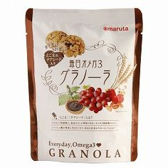 It is a serial granola that can take 1/2 day of omega-3 fatty acid (α-linolenic acid). Add soup, chia seeds, almonds etc, and just for size filling in between work and housework, a snack of size. Individual package.