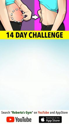 Full Body Gym Workout, Flat Belly Workout, Gym Workout Tips, Workout Videos, At Home Workouts, Yoga For Flat Belly, Walking Workouts, Flat Belly Challenge, 14 Day Challenge