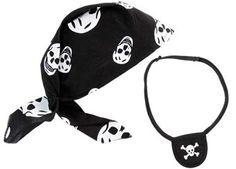 Seeräuberset: Kopftuch & Augenklappe von Trullala
