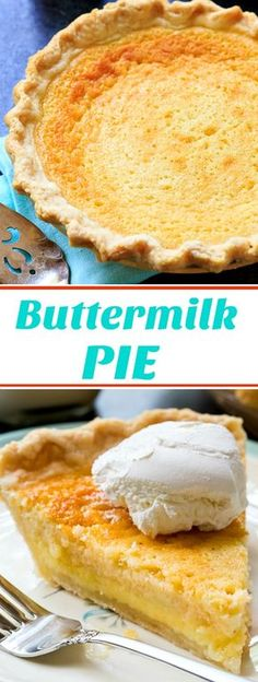 Old-Fashioned Buttermilk Pie- super sweet with a little tang!