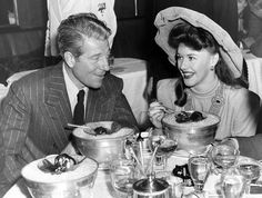 Jean Gabin and Ginger Rogers at the Stork Club