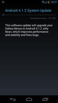In serata è stato reso disponibile l'aggiornamento via OTA ad Android 4.1.2 per i terminali Nexus :)