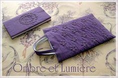 boutis 紫色の小さなバッグ 「桔梗紋」のブティ 完成 : ombre et lumière