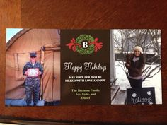 Our Deployment Christmas card. #firstdeployment #militarylife #militarywife