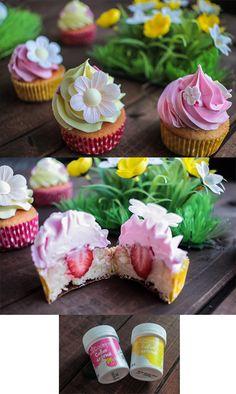 De délicieux #cupcakes à la #fraise --> http://youdoit.fr/fr/94-colorant-alimentaire #cuisinecreative #colorants